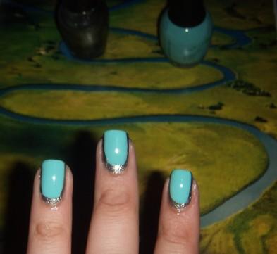 Nail art, Finger Paints, Tiffany Imposter