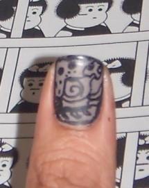 Nail art, glifos mayas, Sally Hansen, Nail art pen