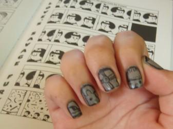 Nail art, glifos mayas, Covergirl, Non-stop stone