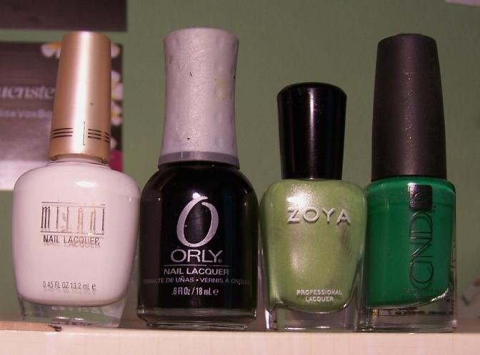 De izquierda a derecha: White, Liquid Vinyl, Tracie y Green Scene