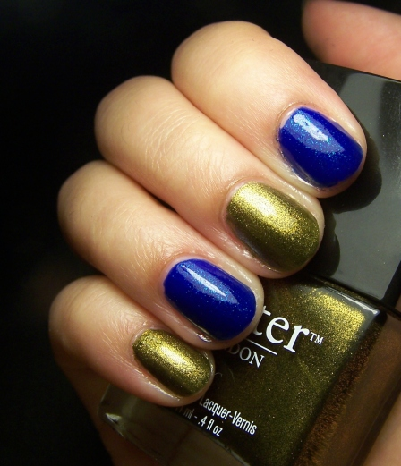 Butter London en Wallis con Orly  en Royal Navy. Son tan bonitos que voy a llorar.