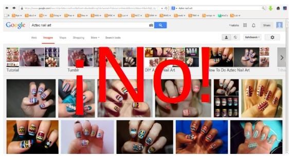 """""""Aztec nail art"""""""