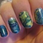 Domingo de diseño: Dry marble en azul, verde y amarillo